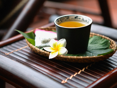 Uống trà 1