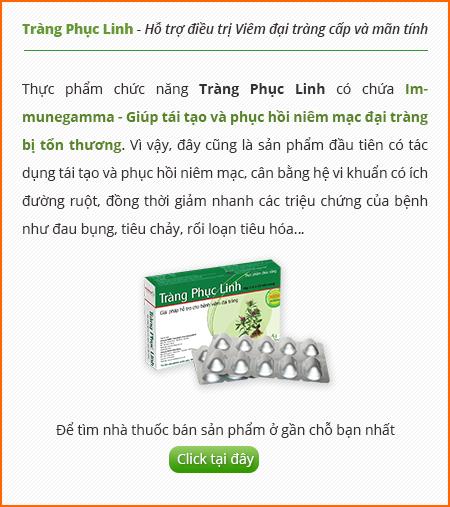 Sản phẩm cho bệnh viêm đại tràng