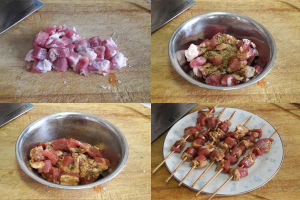 Cách làm món lá mơ cuộn thịt heo nướng 2