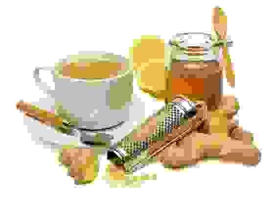 Thức uống từ gừng, chanh, mật ong 1