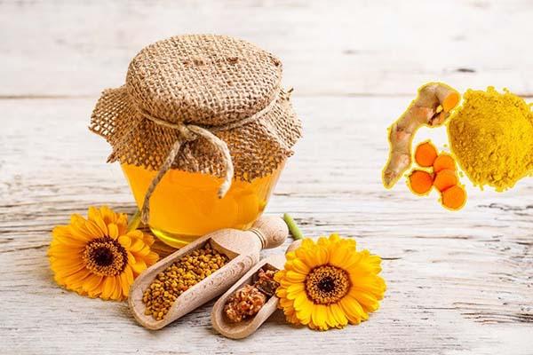 Mật ong kết hợp tinh bột nghệ 1
