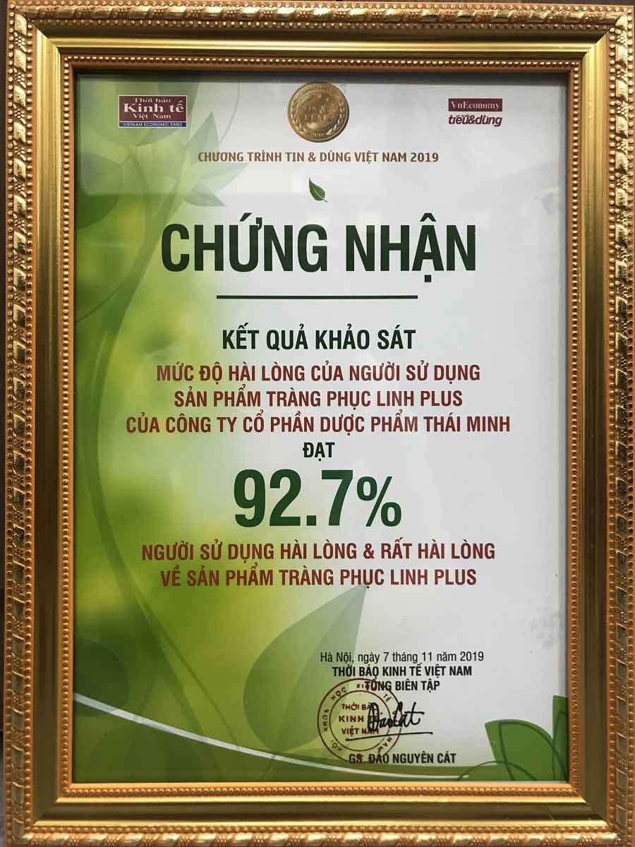 92.7% khách hàng hài lòng và rất hài lòng khi sử dụng Tràng Phục Linh Plus 1