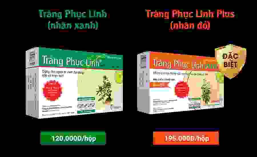 Tràng Phục Linh & Tràng Phục Linh Plus dành cho bệnh Đại tràng: Cam kết hoàn lại 100% tiền nếu không giảm triệu chứng đau bụng, đi ngoài 1